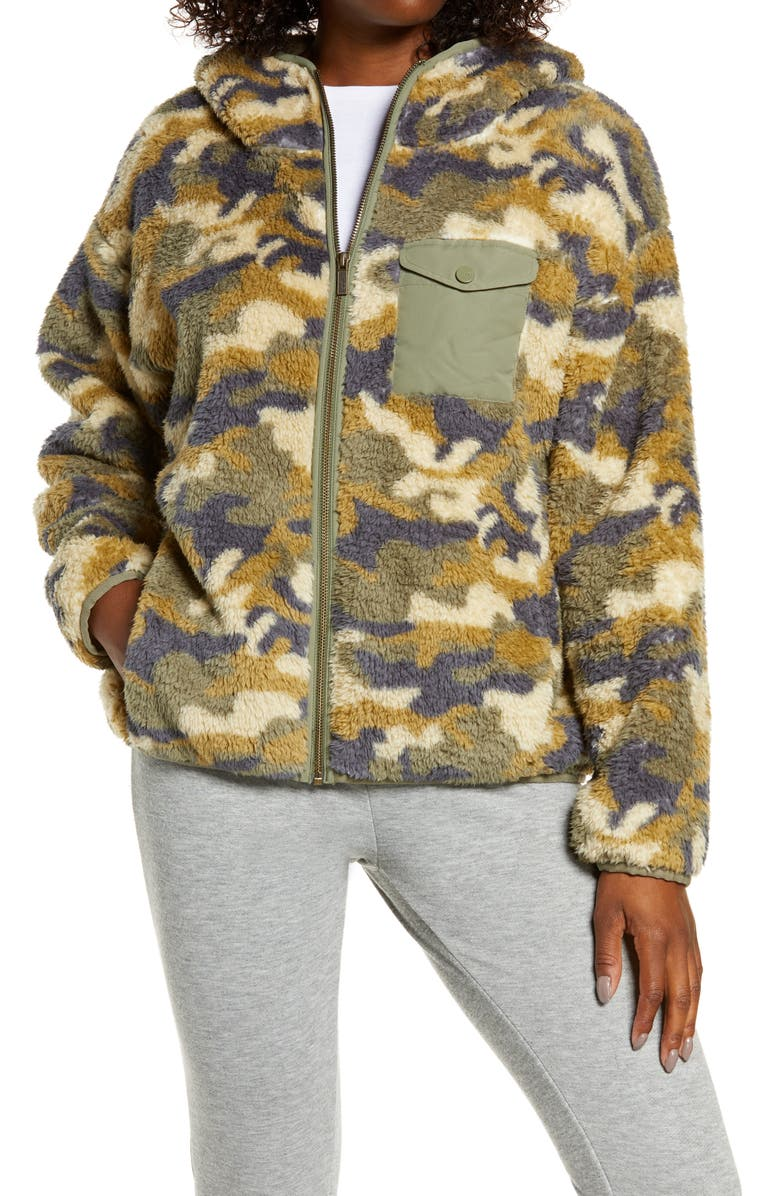 UGG<SUP>®</SUP> Kadence Fleece Zip Hoodie, Main, color, 301
