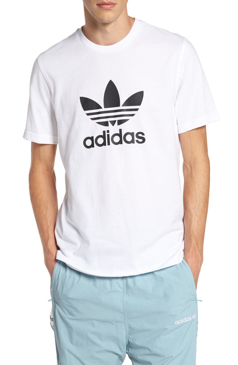ADIDAS ORIGINALS Trefoil Graphic T-Shirt, Main, color, WHITE