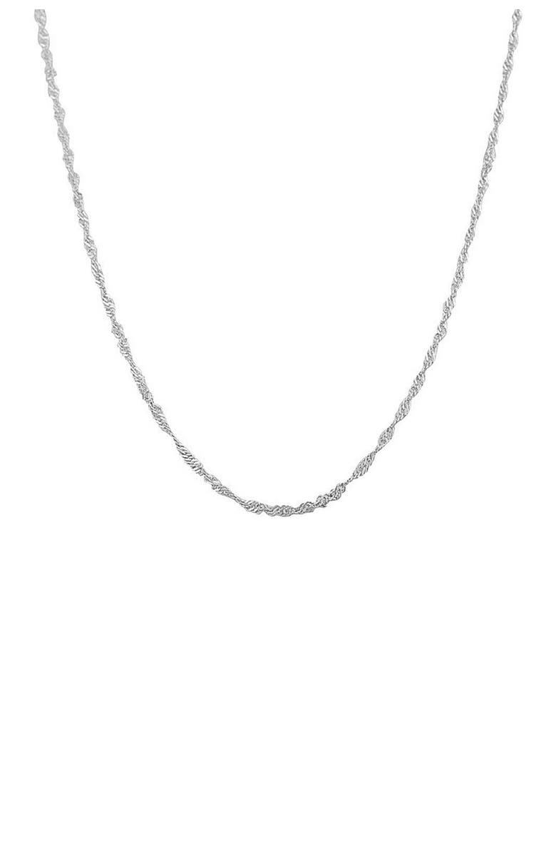 """BEST SILVER Sterling Silver Singapore Chain 20"""", Main, color, SILVER"""