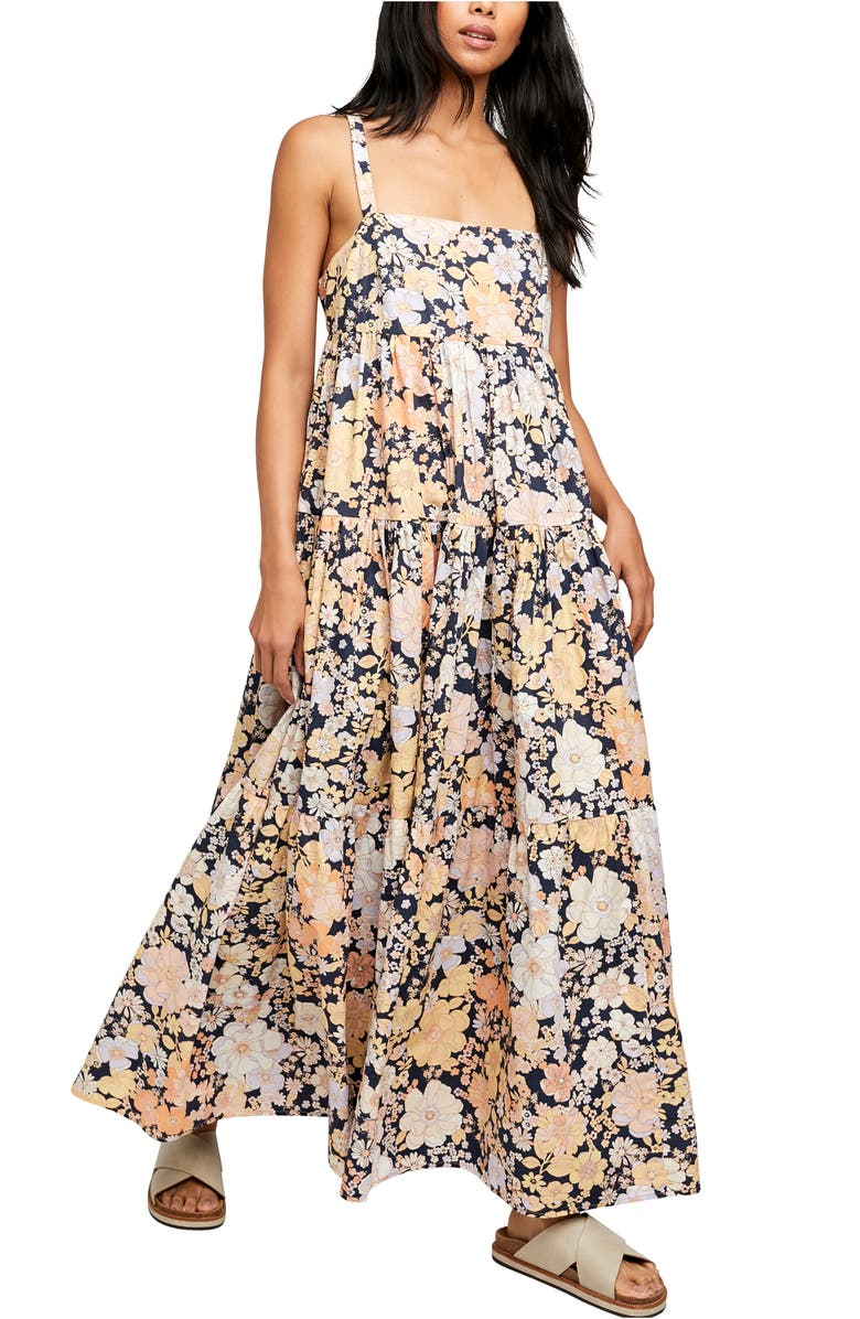 FREE PEOPLE Floral Maxi Sundress, Main, color, DARK COMBO