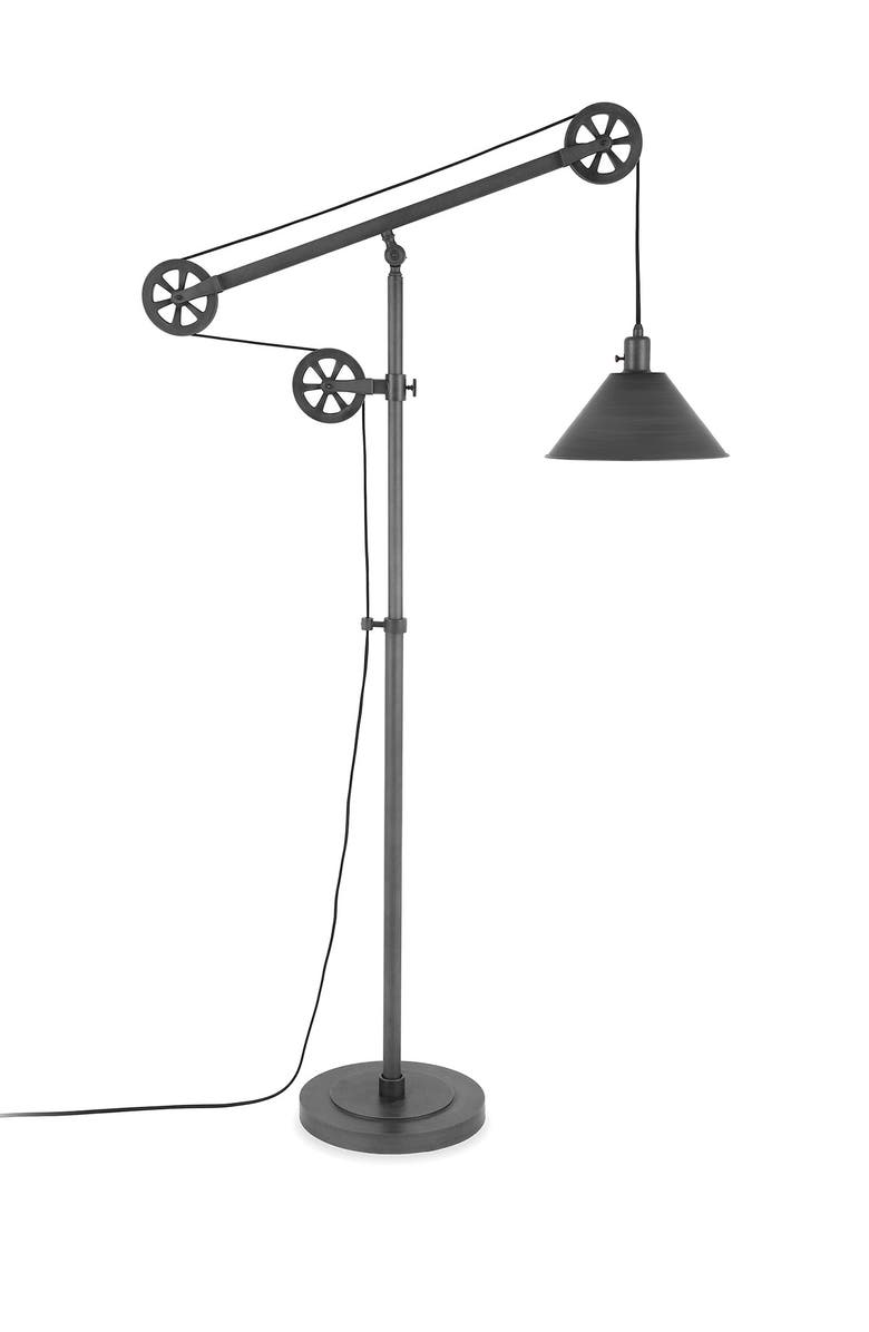 ADDISON AND LANE Descartes Floor Lamp - Aged Steel, Main, color, SILVER