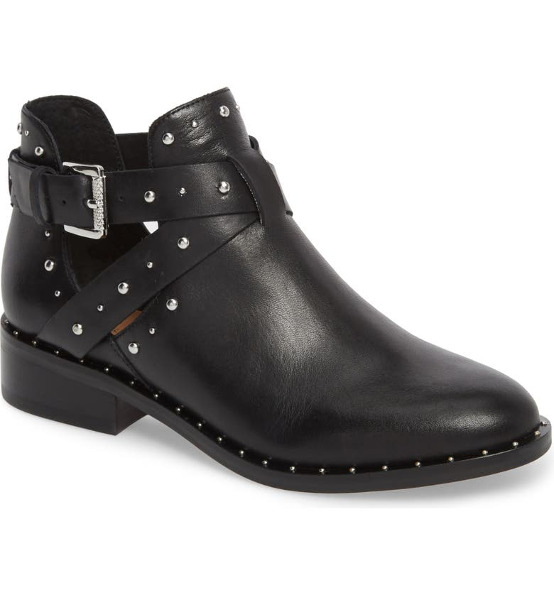 HALOGEN<SUP>®</SUP> Hailey Bootie, Main, color, BLACK LEATHER