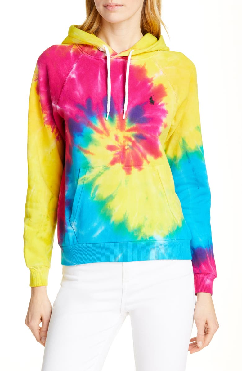 POLO RALPH LAUREN Tie Dye Hoodie, Main, color, 400