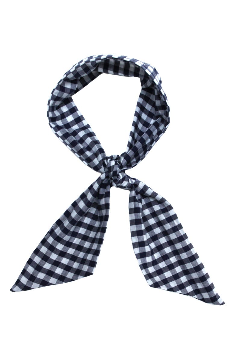 DONNI Charm Gingham Wire Scarf, Main, color, 410
