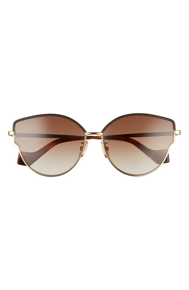 LOEWE 60mm Gradient Butterfly Sunglasses, Main, color, ENDURA GOLD/BRWN LEATHER/BRWN