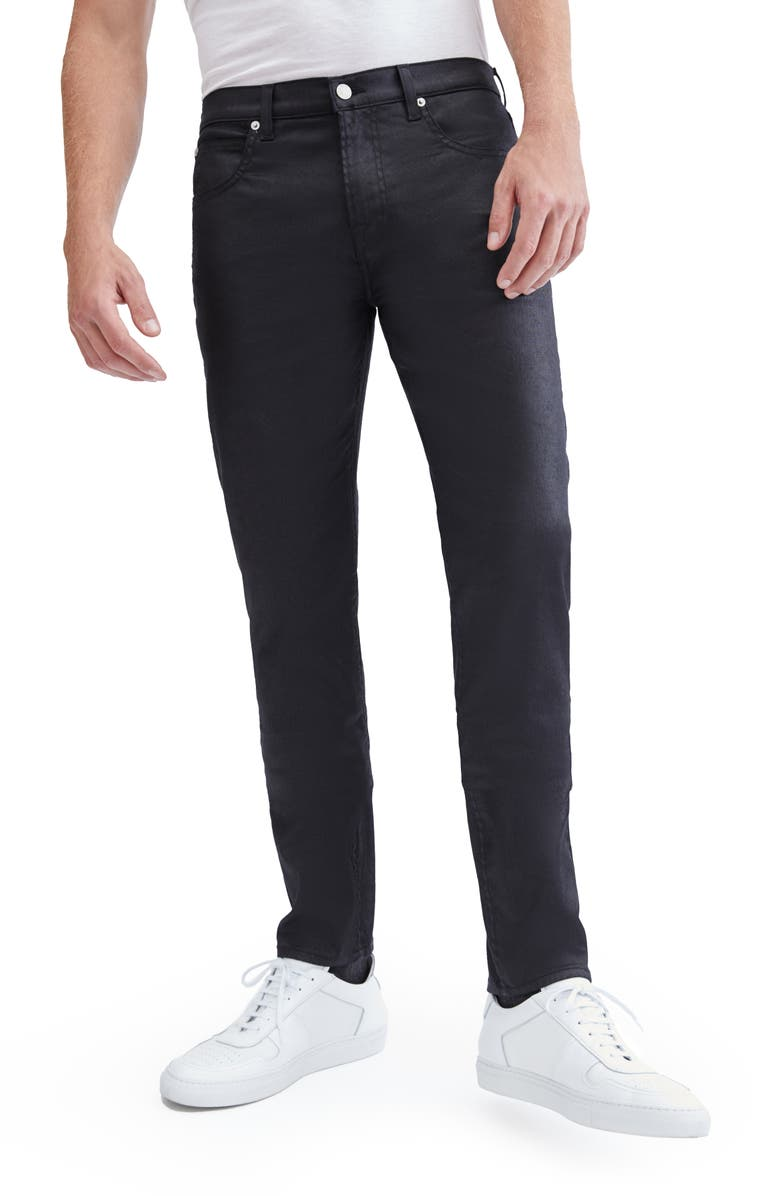 7 FOR ALL MANKIND<SUP>®</SUP> Paxtyn Skinny Jeans, Main, color, COATED BLACK