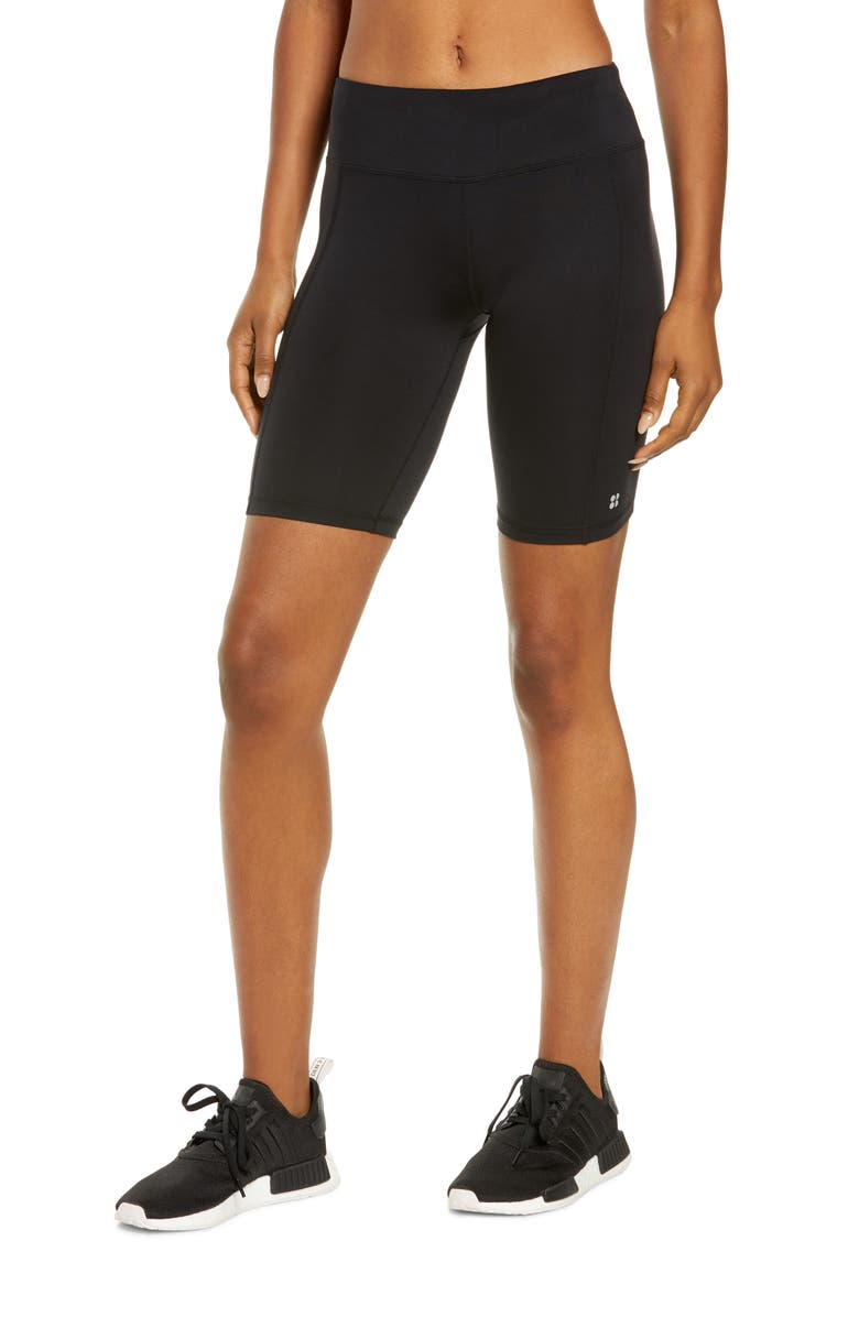 SWEATY BETTY All Day Shorts, Main, color, BLACK
