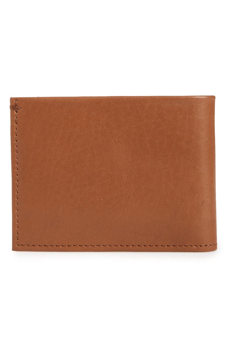 SHINOLA Slim Bifold Leather Wallet, Main, color, BOURBON