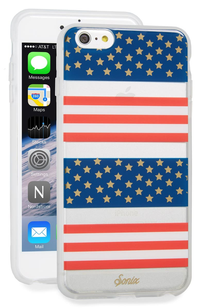 SONIX Born in the USA iPhone 6 Plus/6s Plus Case, Main, color, RED