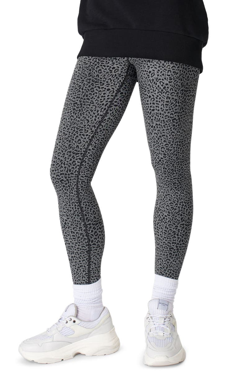 SWEATY BETTY Flatter Me Jacquard High Waist Workout Leggings, Main, color, SLATE GREY