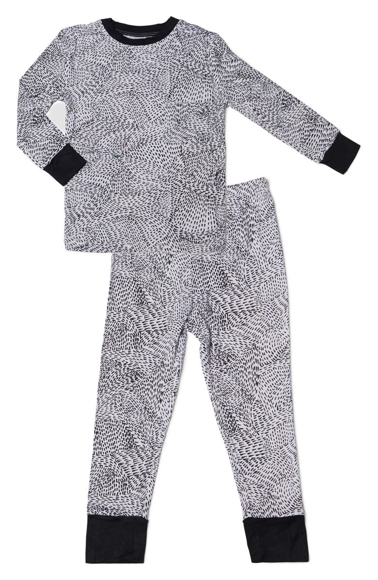 BABY GREY BY EVERLY GREY Baby Grey Fitted Two-Piece Pajamas, Main, color, 010