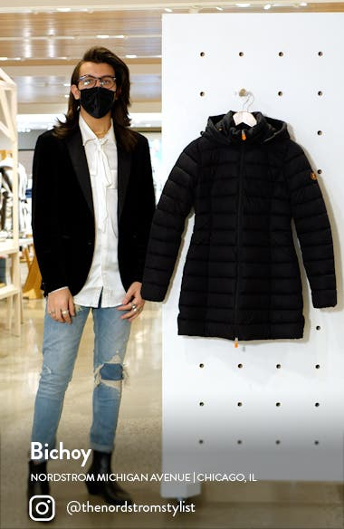 Seal Stretch Water Resistant Quilted Coat, sales video thumbnail