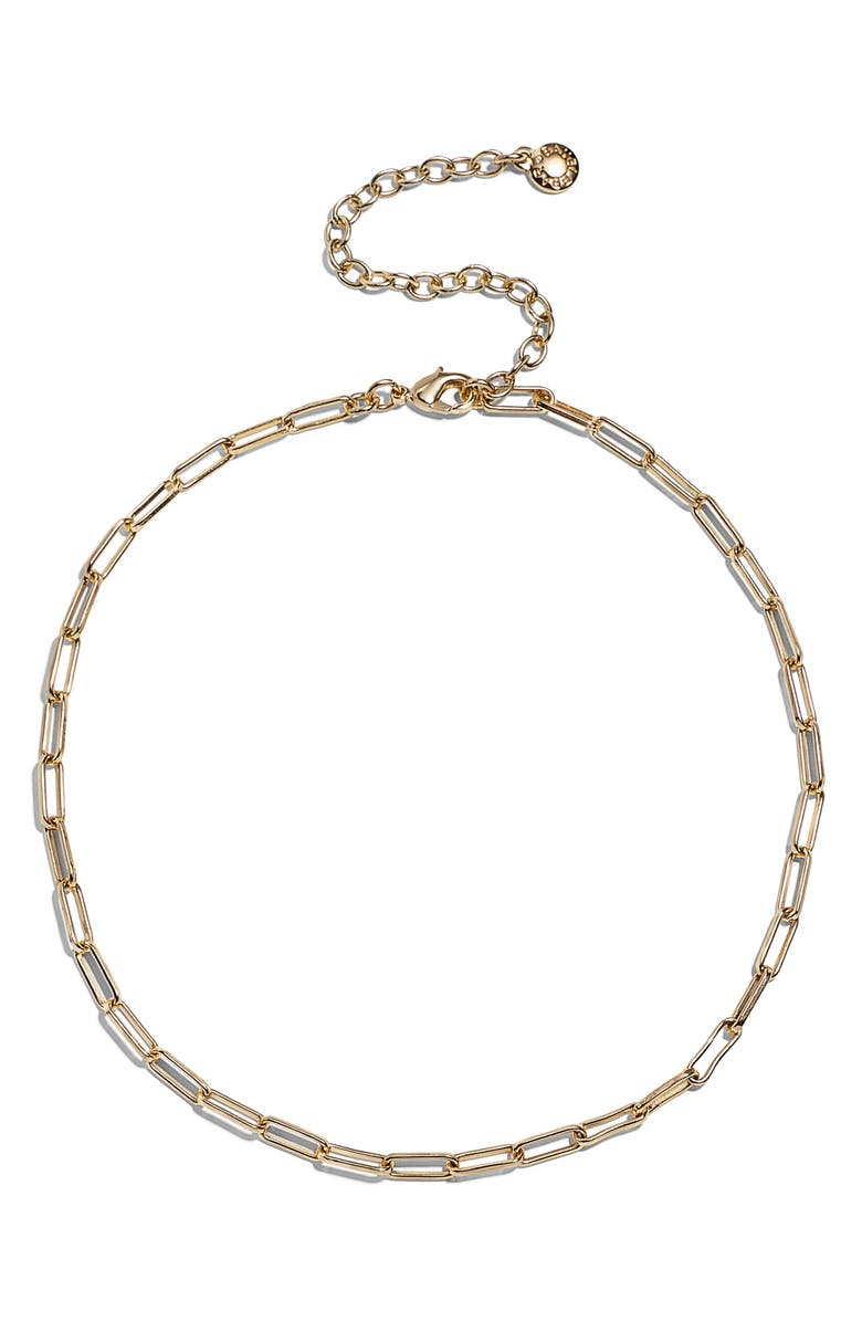 BAUBLEBAR Small Hera Link Choker, Main, color, Gold