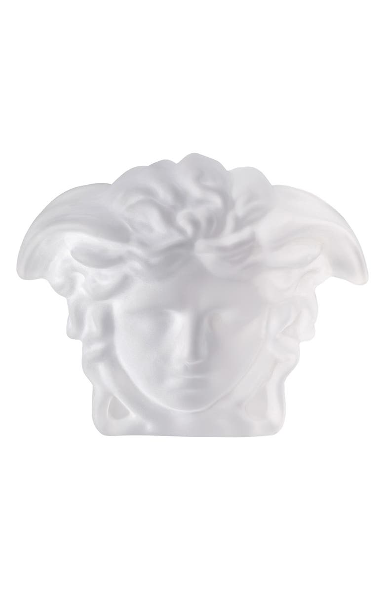 VERSACE Medusa Lumiere Crystal Paperweight, Main, color, CLEAR