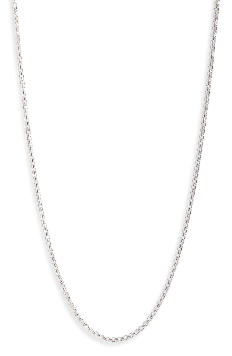 JONAS STUDIO Flatiron Sterling Silver Chain Necklace, Main, color, Silver