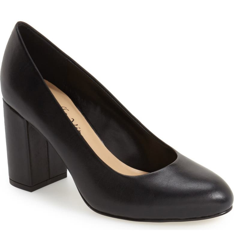BELLA VITA 'Nara' Block Heel Pump, Main, color, 001