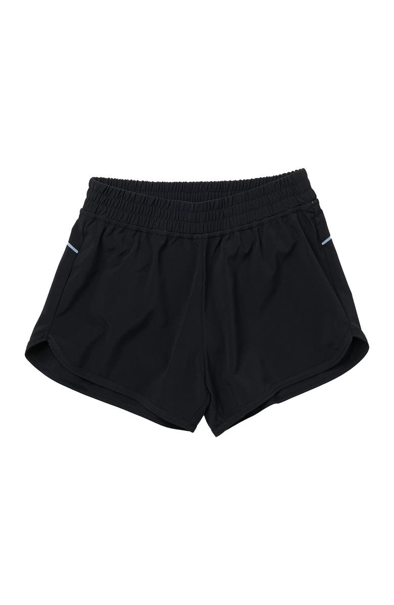 Z BY ZELLA GIRL Freedom Running Shorts, Main, color, BLACK