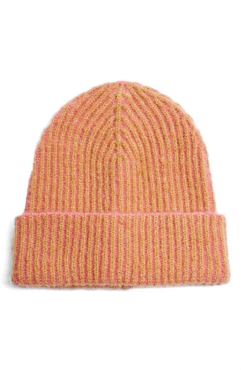 TOPSHOP Plated Stripe Beanie, Main, color, 650
