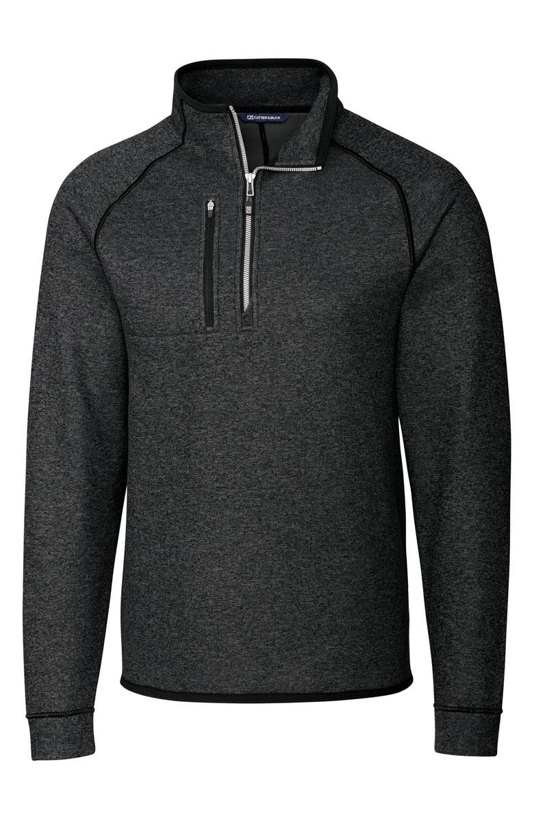 CUTTER & BUCK Mainsail Half Zip Pullover, Main, color, CHARCOAL HEATHER