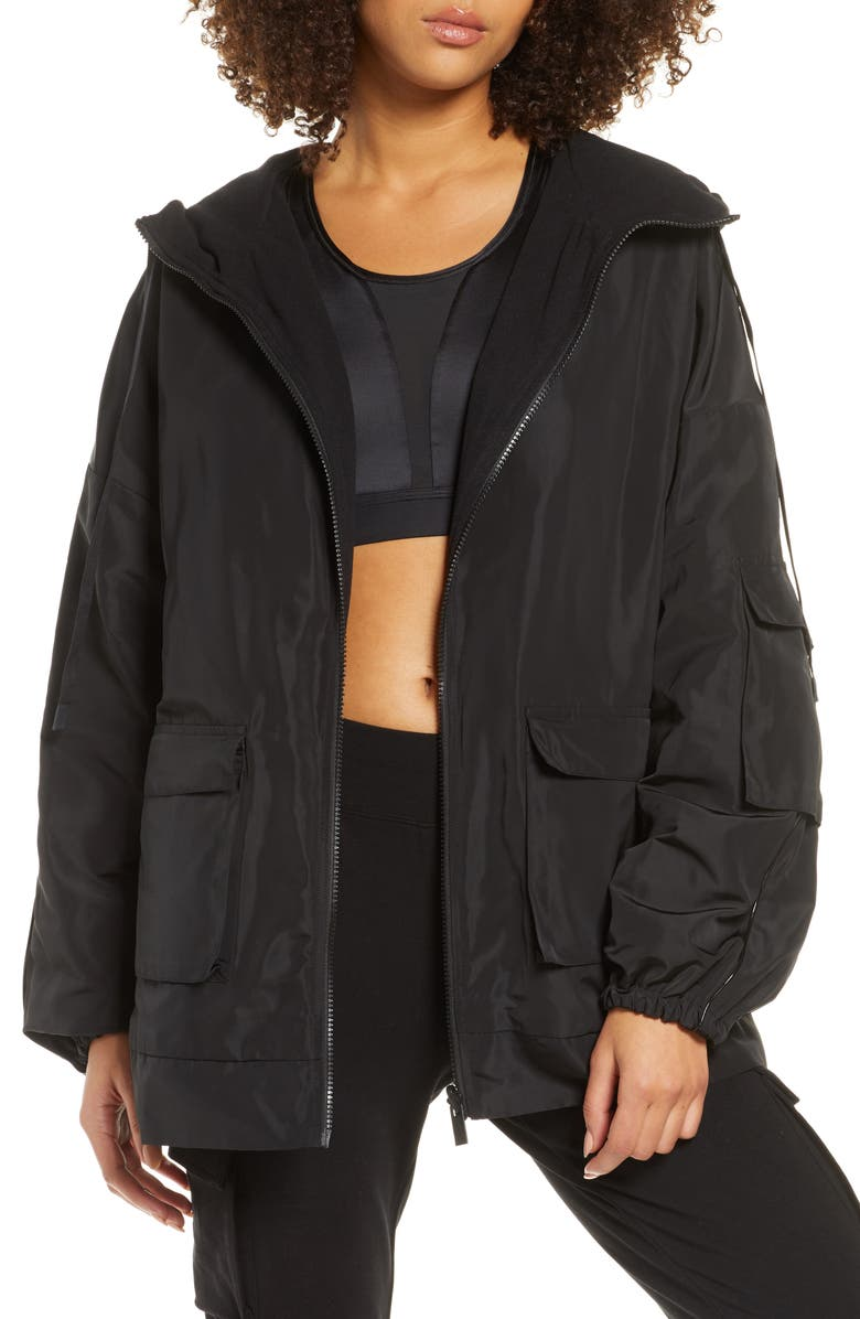 ALO Legion Reversible Hooded Jacket, Main, color, Black