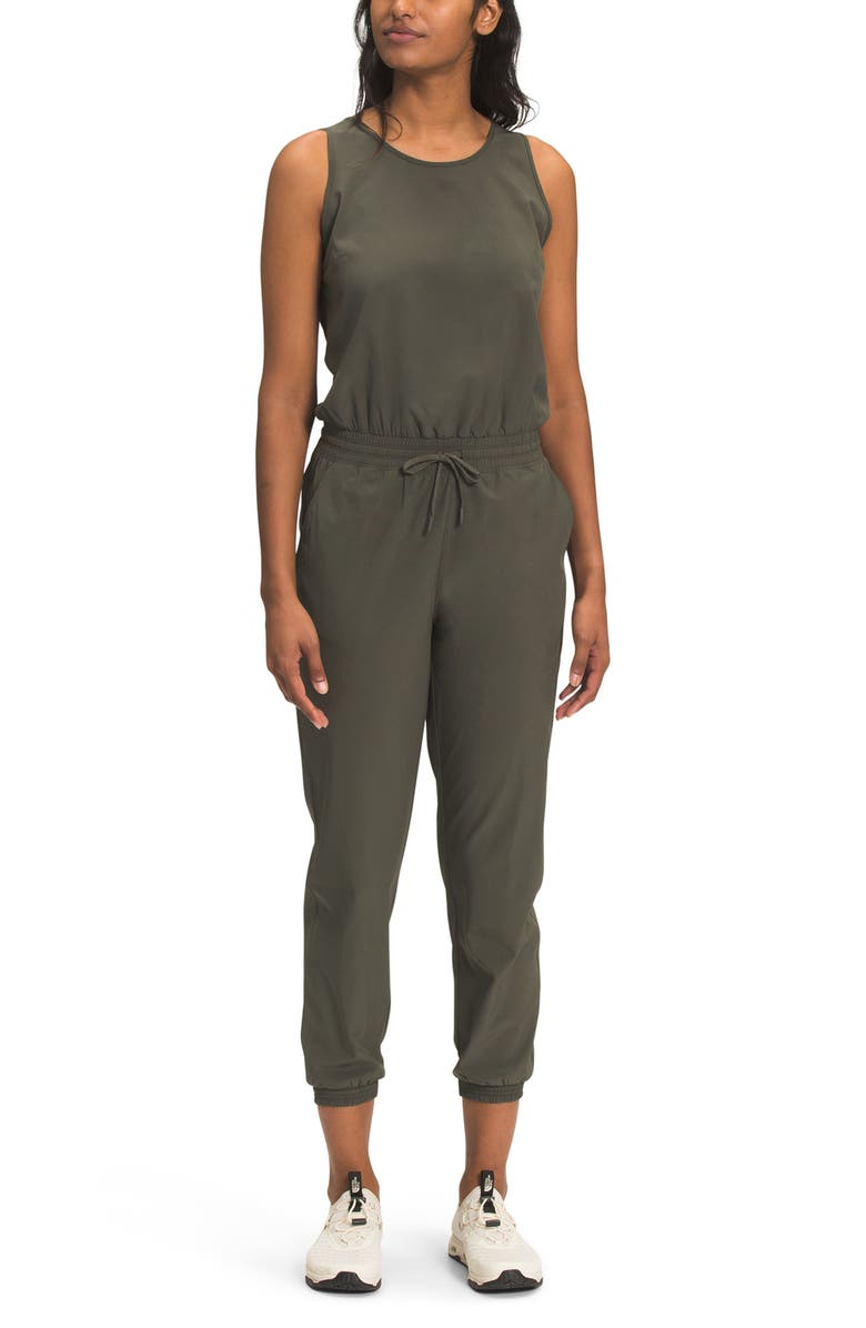 THE NORTH FACE Never Stop Wearing Jumpsuit, Main, color, NEW TAUPE GREEN