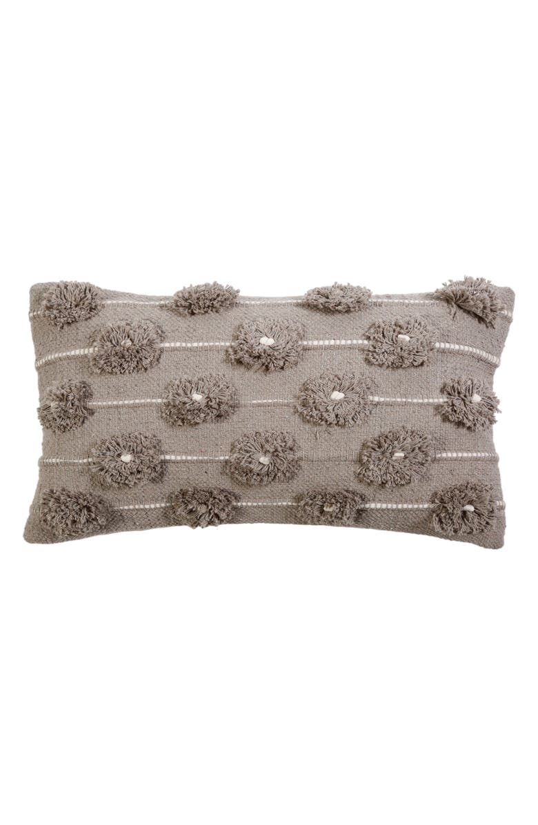 POM POM AT HOME Lola Accent Pillow, Main, color, TAUPE/ IVORY