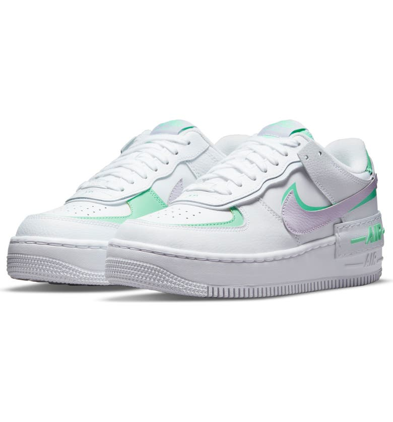 NIKE Air Force 1 Shadow Sneaker, Main, color, WHITE/ INFINITE LILAC/ GREY