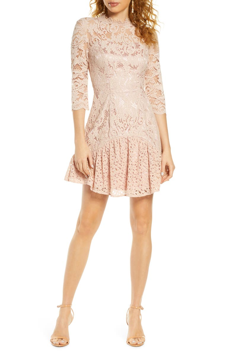 CHI CHI LONDON Emberley Lace Cocktail Dress, Main, color, 659