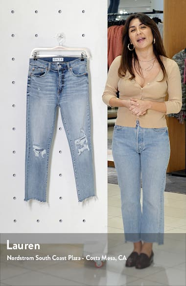 Shy Girl Ripped High Waist Crop Flare Jeans, sales video thumbnail