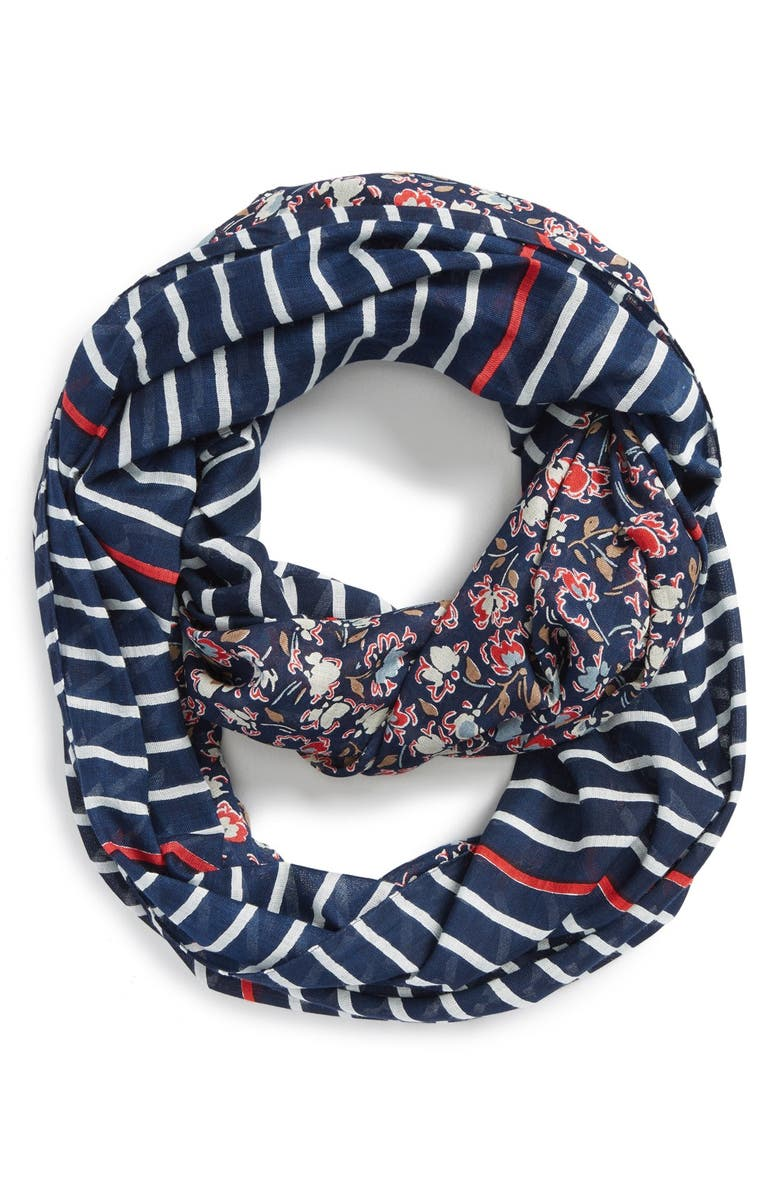 SOLE SOCIETY Mixed Print Infinity Scarf, Main, color, MULTI