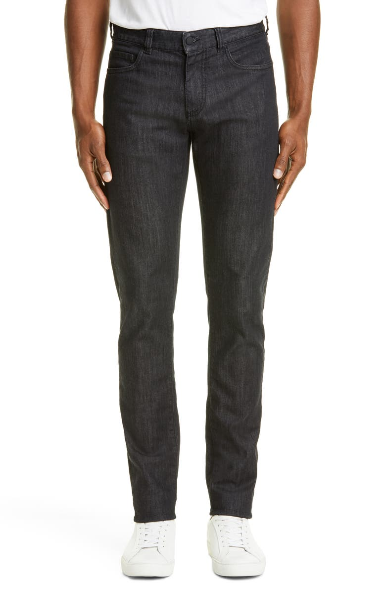 CANALI Black Edition Slim Fit Stretch Jeans, Main, color, 001