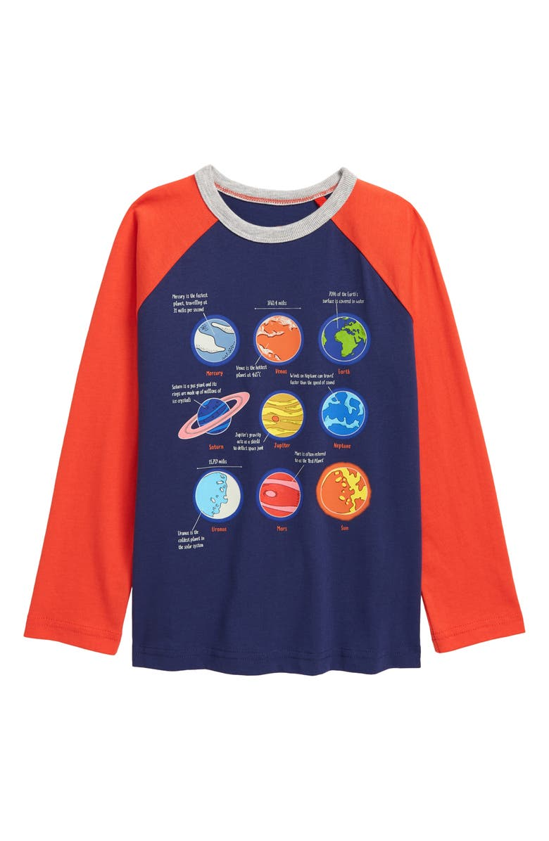 BODEN Mini Boden Kids' Glow in the Dark Space T-Shirt, Main, color, 414