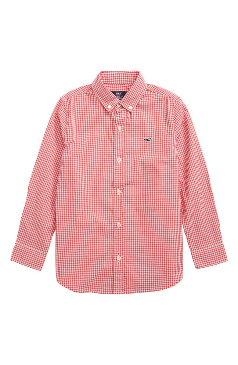 VINEYARD VINES Arawak Gingham Poplin Whale Shirt, Main, color, 631