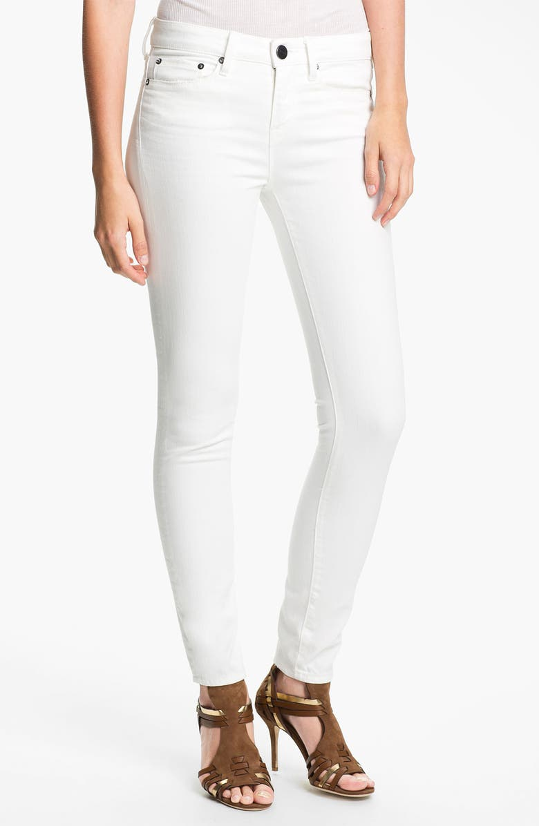 VINCE Skinny Ankle Jeans, Main, color, OPTIC WHITE WITH GRINDING