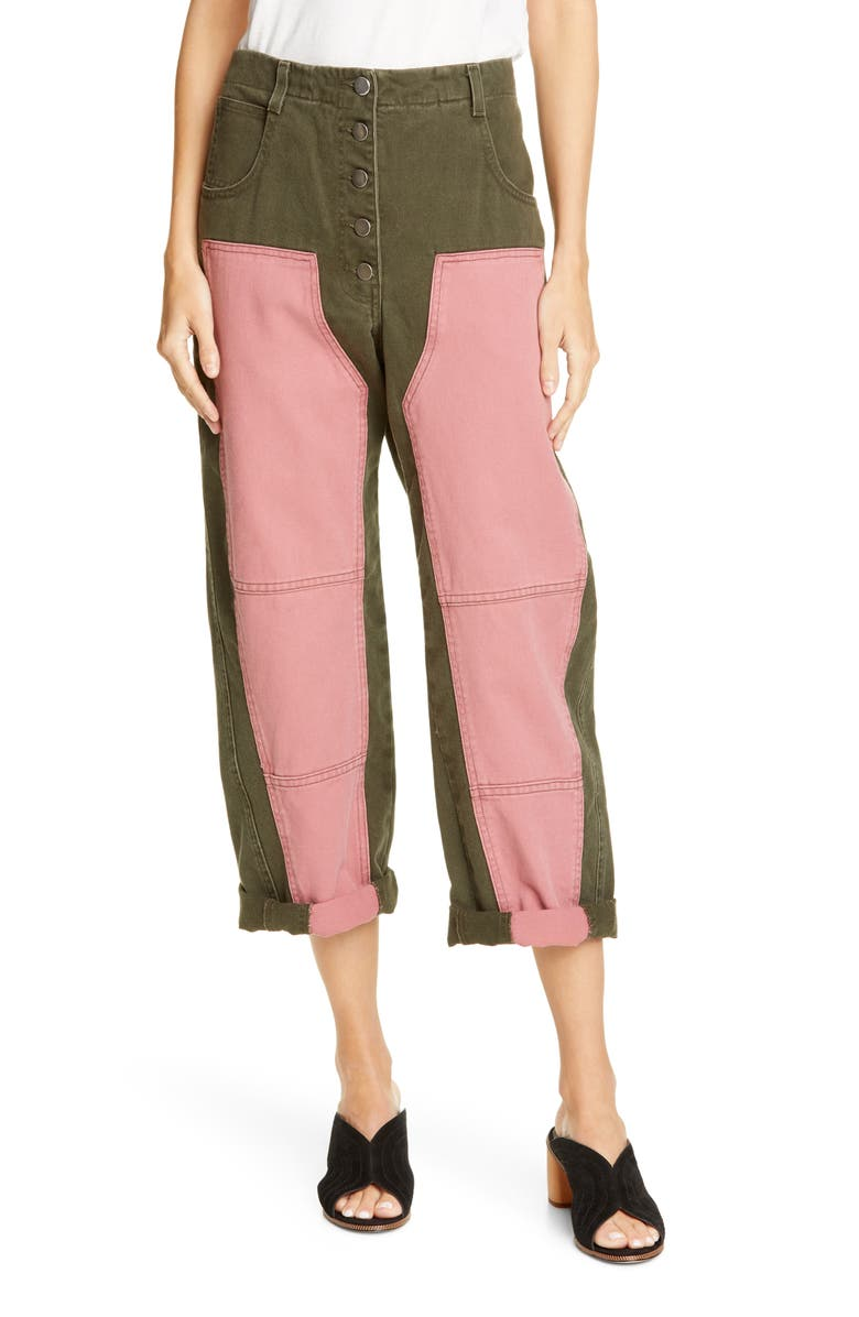 RACHEL COMEY Handy Colorblock Crop Pants, Main, color, 314