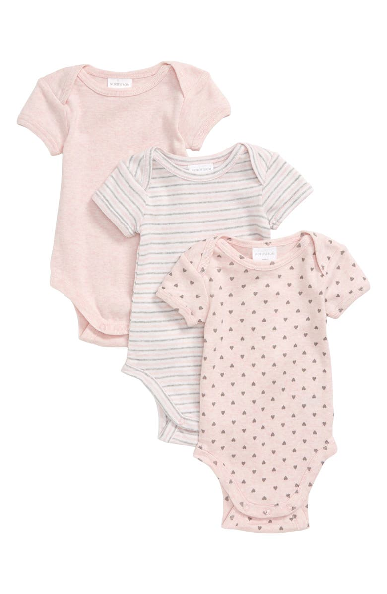 NORDSTROM BABY 3-Pack Bodysuits, Main, color, 680