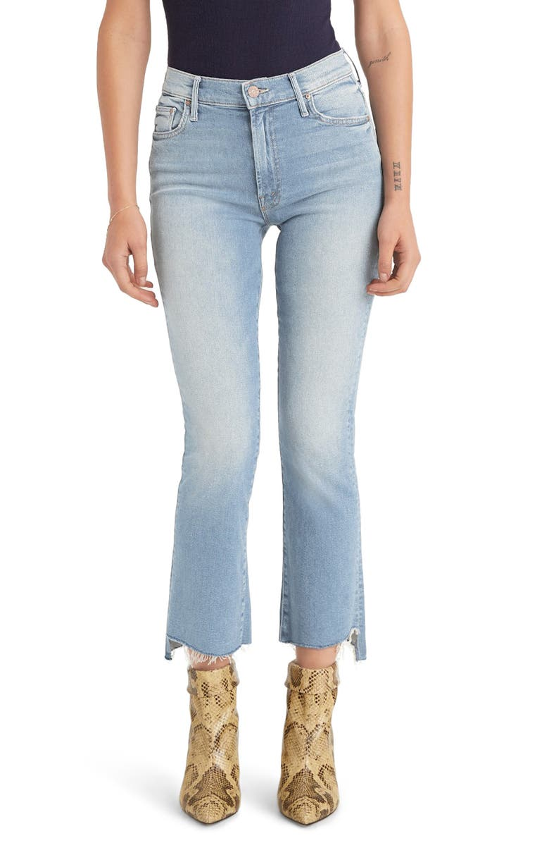 MOTHER The Insider Crop Step Fray Jeans, Main, color, 451
