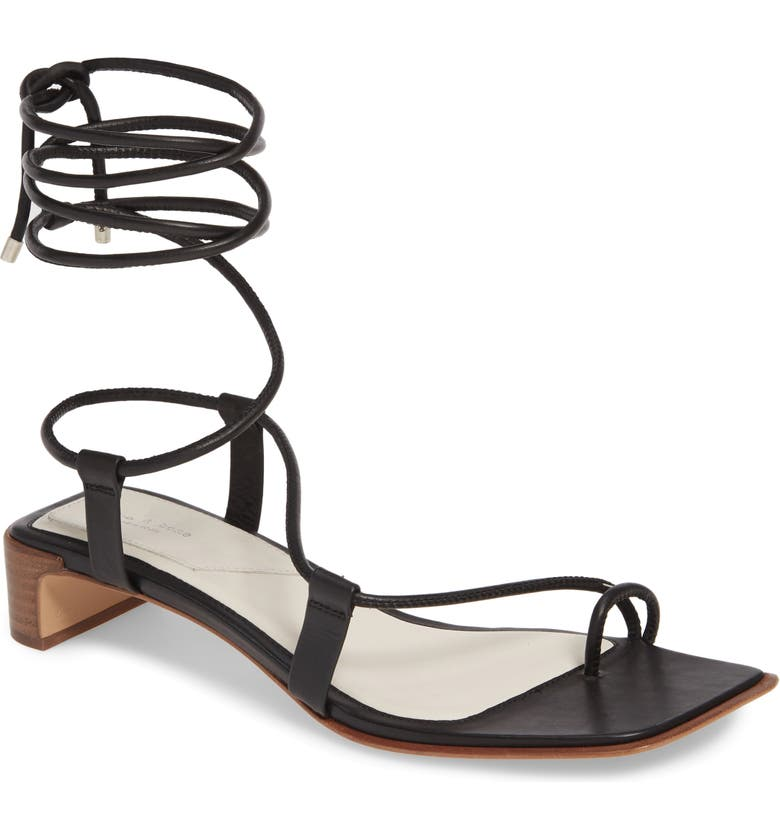 RAG & BONE Cindy Lace-Up Sandal, Main, color, 001
