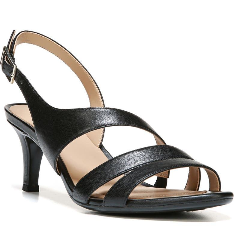 NATURALIZER Taimi Slingback Sandal, Main, color, BLACK LEATHER