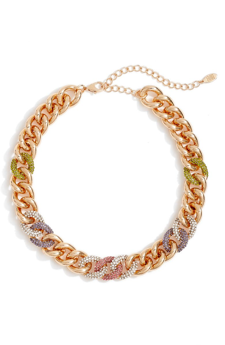 8 OTHER REASONS x Draya Michele Pavé Chain Necklace, Main, color, GOLD