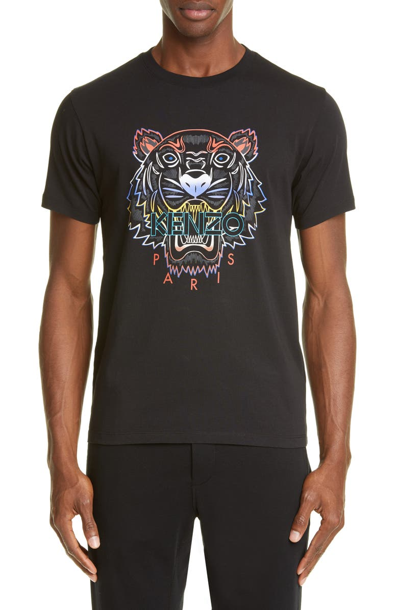 KENZO Gradient Tiger Graphic T-Shirt, Main, color, 001