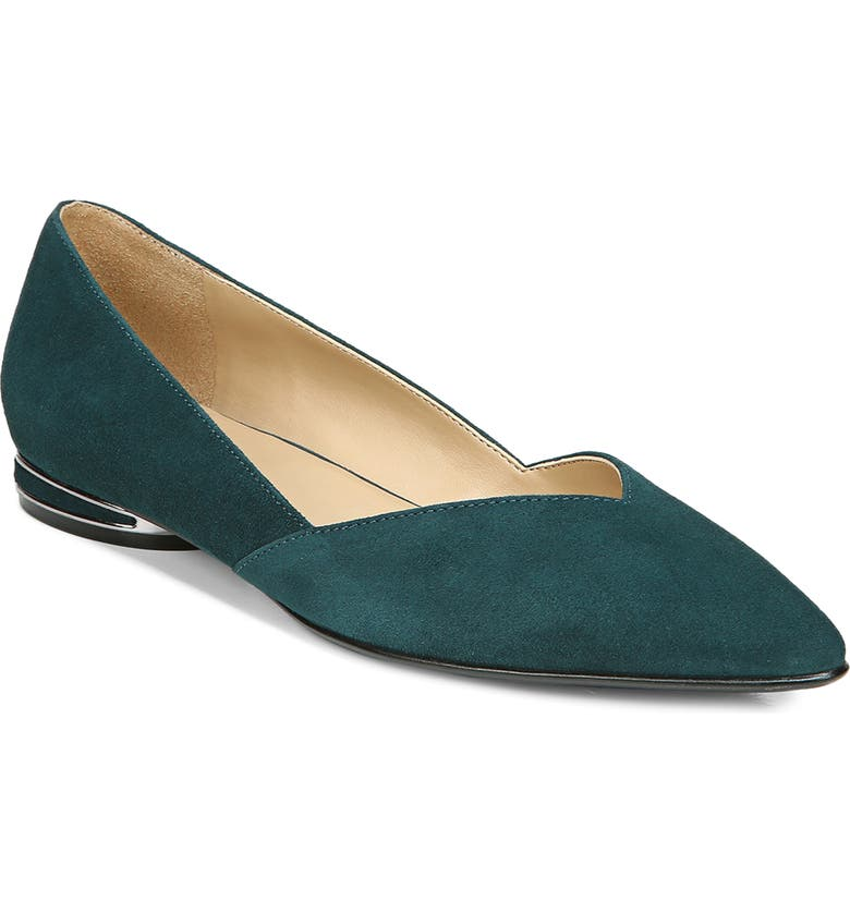 NATURALIZER Havana Pointed Toe Flat, Main, color, KING FISHER LEATHER