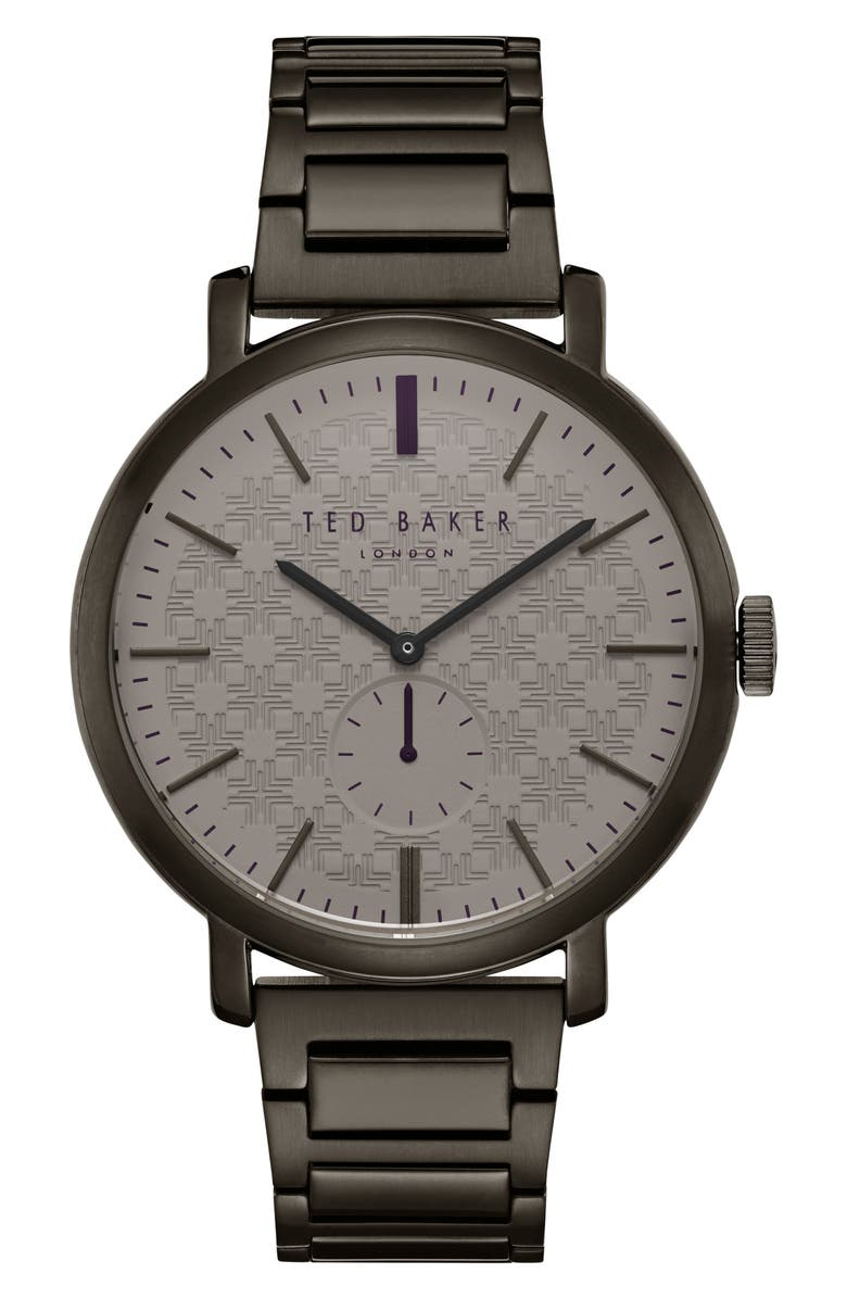 TED BAKER LONDON Trent Bracelet Watch, 44mm, Main, color, 023
