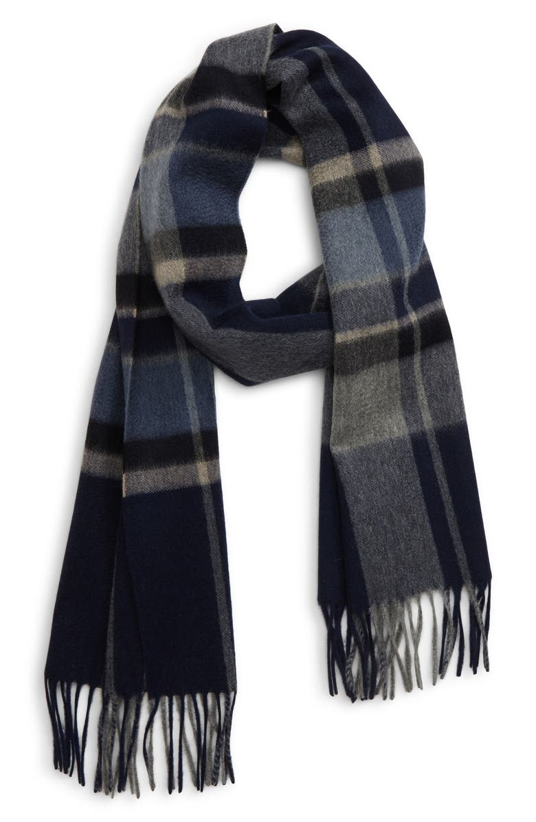 ANDREW STEWART Plaid Cashmere Scarf, Main, color, 410