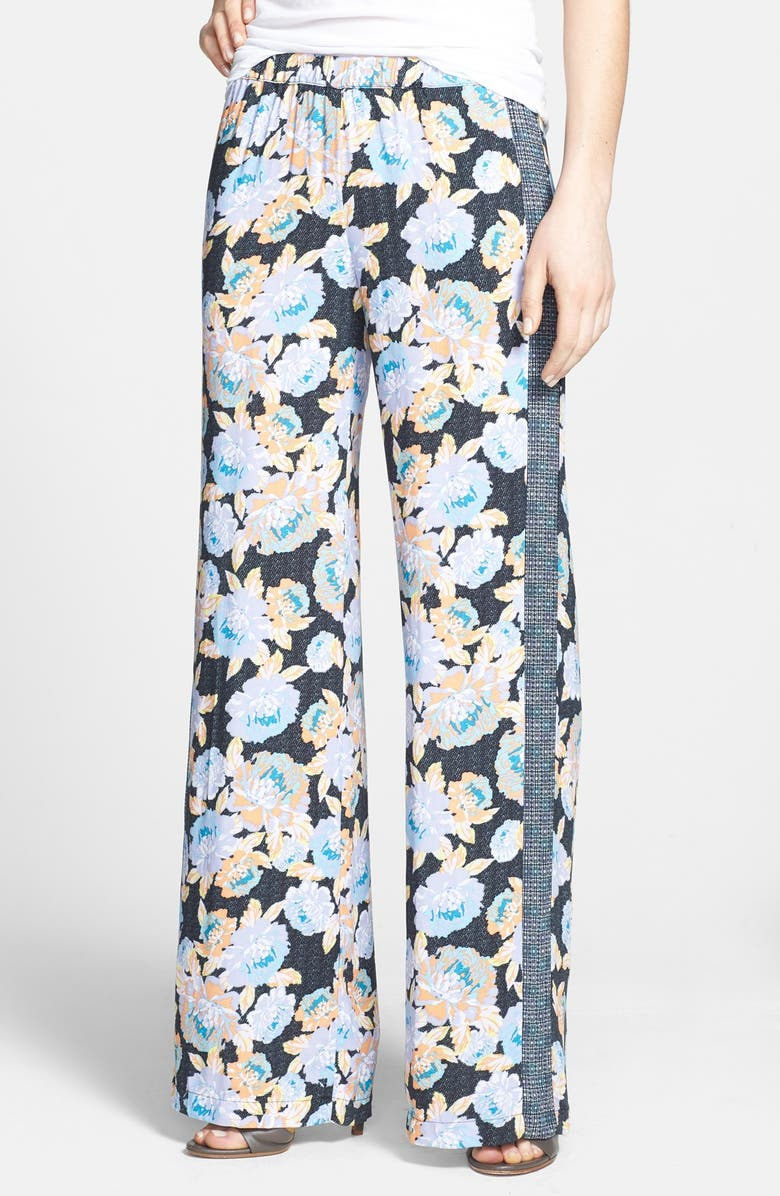 ELLA MOSS 'Delilah' Mixed Print Wide Leg Pants, Main, color, 001