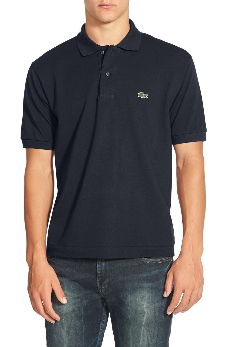 LACOSTE L1212 Regular Fit Piqué Polo, Main, color, NAVY
