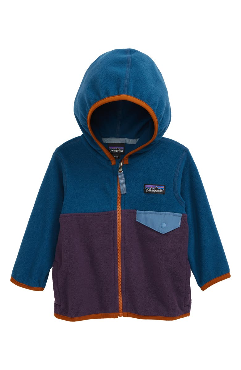 PATAGONIA Micro D<sup>®</sup> Snap-T<sup>®</sup> Fleece Jacket, Main, color, PITON PURPLE