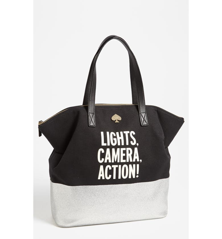 KATE SPADE NEW YORK 'call to action - terry' canvas tote, Main, color, 251