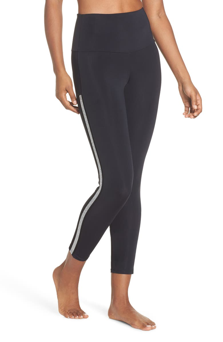 ONZIE Side Runner High Waist Leggings, Main, color, 001