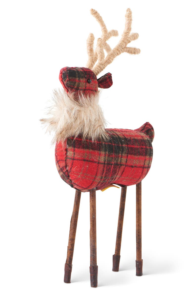 K & K INTERIORS Plaid Reindeer, Main, color, 600